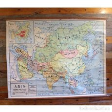 Antigüedades: ANTIGUO MAPA POLÍTICO DE ASIA. Lote 146560606