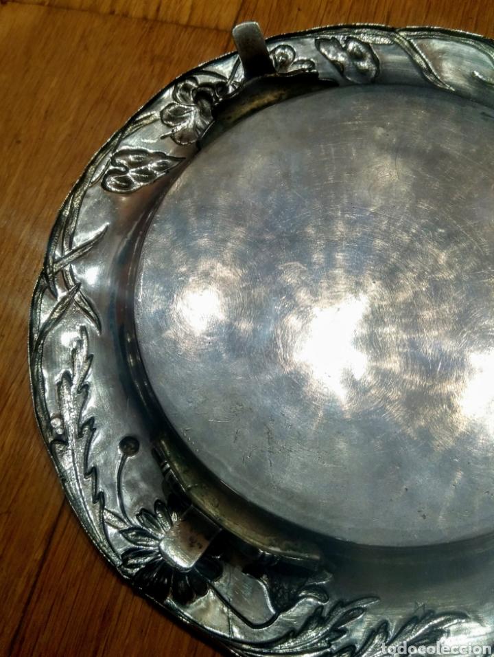 Antigüedades: Centro de mesa, Plata de Ley. Principios siglo XX. - Foto 3 - 146564158