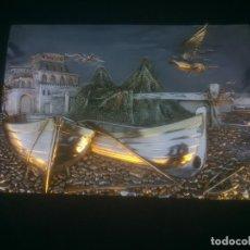 Antigüedades: RELIEVE CON PLATEADO ARG 925 MOTIVO MARINO MARINERO. Lote 146594170