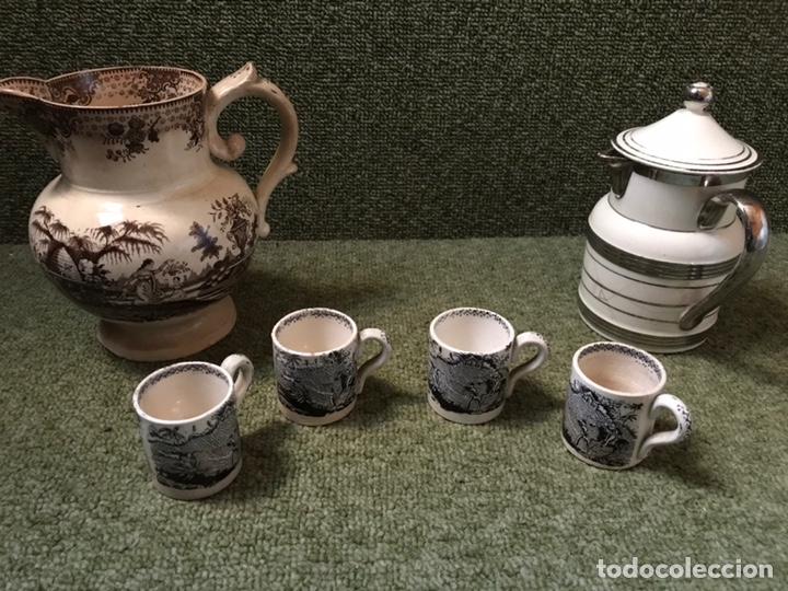 CERAMICA JARRAS Y TAZAS CAFE (Antigüedades - Porcelanas y Cerámicas - Otras)