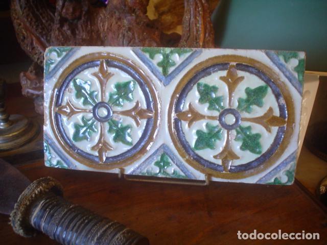 ANTIGUO AZULEJO XVIII TRIANA (Antigüedades - Porcelanas y Cerámicas - Otras)