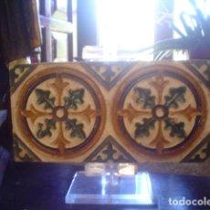 Antigüedades: ANTIGUO AZULEJO ARISTA XVIII TRIANA. Lote 146634058