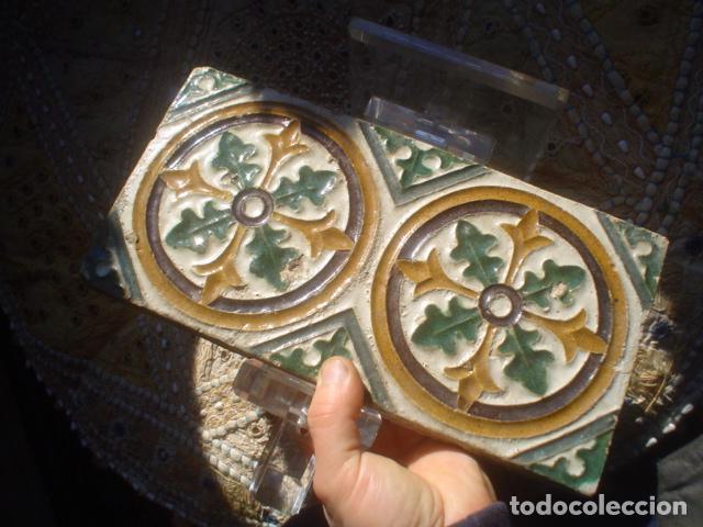 Antigüedades: antiguo azulejo arista xviii triana - Foto 5 - 146634058