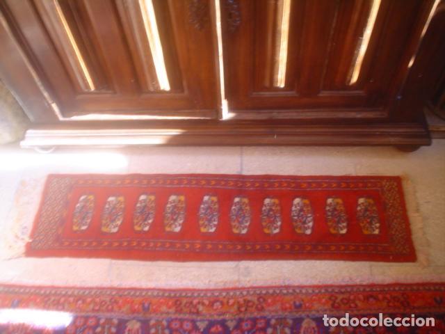 ALFOMBRA DE REZAR PRECIOSA LANA Y SEDA PERFECTA PERSA BOUKHARA (Antigüedades - Hogar y Decoración - Alfombras Antiguas)