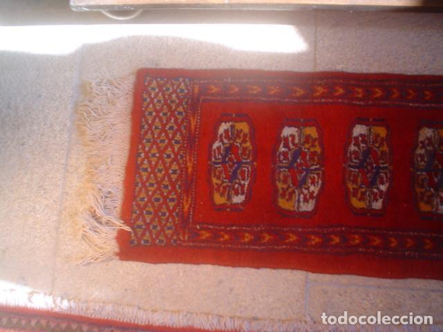 Antigüedades: alfombra de rezar preciosa lana y seda perfecta persa boukhara - Foto 3 - 146634450