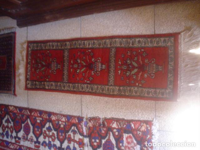 ALFOMBRA DE REZAR PRECIOSA LANA Y SEDA PERFECTA PERSA (Antigüedades - Hogar y Decoración - Alfombras Antiguas)