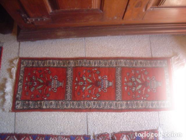 Antigüedades: alfombra de rezar preciosa lana y seda perfecta persa - Foto 3 - 146634758