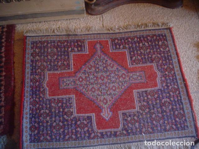 Antigüedades: alfombra de rezar preciosa lana y seda perfecta persa 3 - Foto 2 - 146635046