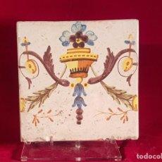 Antigüedades: AZULEJO GRANDE VALENCIA S XVIII. Lote 146635250