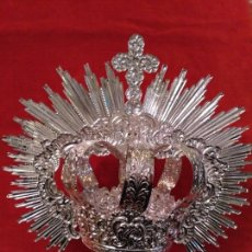 Corona imperial de Virgen, baño de plata 9 cm diámetro(nuevo)