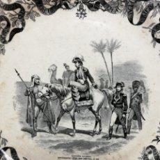 Antigüedades: ENTRADA DE NAPOLEÓN EN SIRIA, PLATO LLANO, MEDIDAS 23,5 CM. SELLADO, S. XIX. Lote 146643324