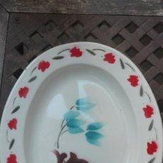Antigüedades: BANDEJA HIERRO ESMALTADO. Lote 146645436