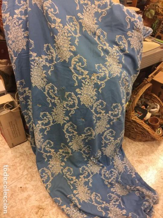 Antigüedades: Antigua TELA DE COLCHON, en algodon, CON PRECIOSO ESTAMPADO. ideal para tapizar,cojines... - Foto 4 - 146654466