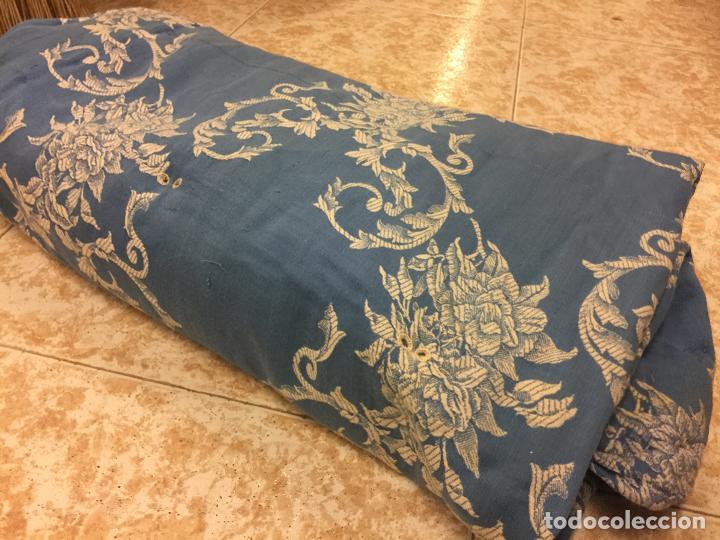 Antigüedades: Antigua TELA DE COLCHON, en algodon, CON PRECIOSO ESTAMPADO. ideal para tapizar,cojines... - Foto 5 - 146654466