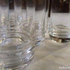 Antigüedades: LOTE 8 VASOS DE TUBO SOPLADOS ARTESANALMENTE.. Lote 146663478
