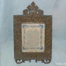 Antigüedades: ** ANTIGUA SACRA RELIGIOSA DE BRONCE **. Lote 146674010