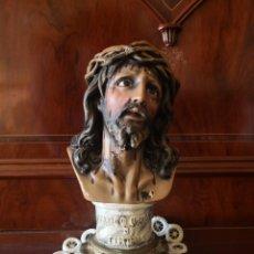 Antigüedades: TALLA FIGURA DE JESUCRISTO. CRISTO DE MEDINACELI. Lote 146709744