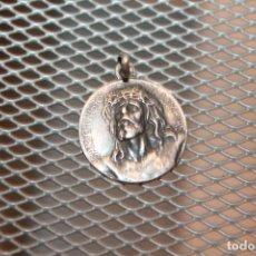 Antigüedades: MEDALLA DE PLATA DEL SANTO CRISTO DE LIMPIAS. 2 CM. 2 FOTOS. Lote 146721942