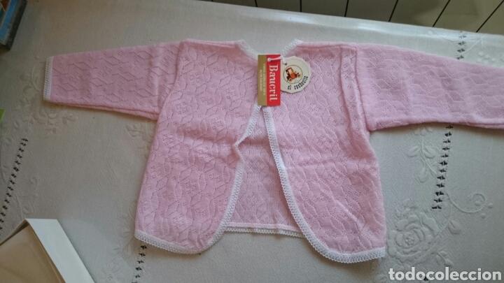 ROPA BEBE EL COCHECITO. CHAQUETA ROSA 6 MESES (Antigüedades - Moda y Complementos - Infantil)