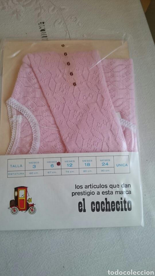 Antigüedades: Ropa bebe El cochecito. Chaqueta rosa 6 meses - Foto 2 - 146724646