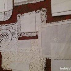 Antigüedades: LOTE 15 CORPORAL. PALIA. HILO. LINO DE TINTORERÍA.. Lote 146759750
