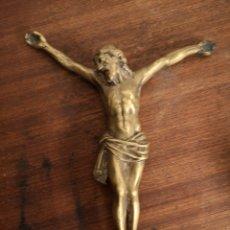 Antigüedades: ANTIGUO CRISTO DE CRUCIFIJO EN BRONCE. Lote 146777933