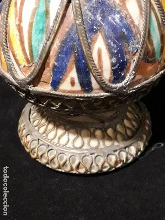 Antigüedades: Antiguo perfumero en terracota esmaltada - Foto 2 - 146782446
