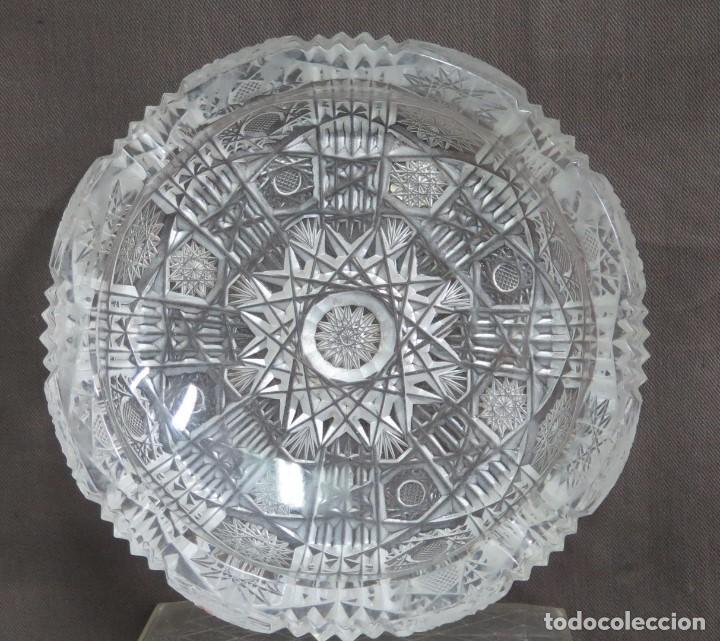 GRAN CENICERO DE CRISTAL TALLADO A MANO. BOHEMIA (Antigüedades - Cristal y Vidrio - Bohemia)