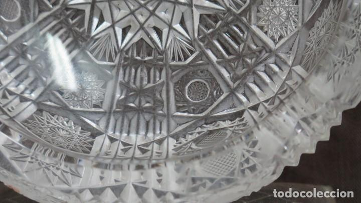 Antigüedades: GRAN CENICERO DE CRISTAL TALLADO A MANO. BOHEMIA - Foto 3 - 146790342
