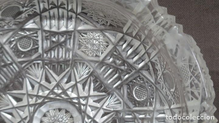 Antigüedades: GRAN CENICERO DE CRISTAL TALLADO A MANO. BOHEMIA - Foto 4 - 146790342