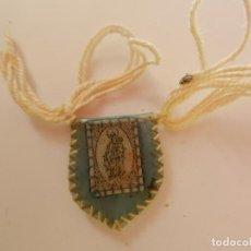 Antigüedades: ESCAPULARIO DE LA VIRGEN DEL CARMEN. 2 CM. Lote 260041280