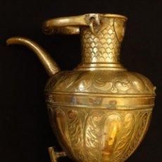 Antigüedades: AGUAMANIL DEL SIGLO XVII EN COBRE REPUJADO. 50 X 35 CM.. Lote 146803174