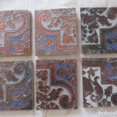 Antigüedades: AZULEJOS REFLEFO RAMOS REJANO. Lote 146808150