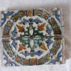 Antigüedades: PAREJA DE AZULEJOS DEL SIGLO XVI. Lote 146809394