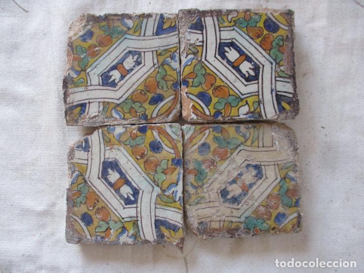 AZULEJOS DEL SIGLO XVI (TRIANA) (Antigüedades - Porcelanas y Cerámicas - Azulejos)