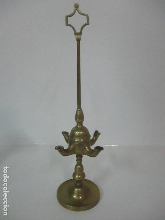 aceitecandivelón en lámpara de Vendido Antigua bronc qzVGLSUMp