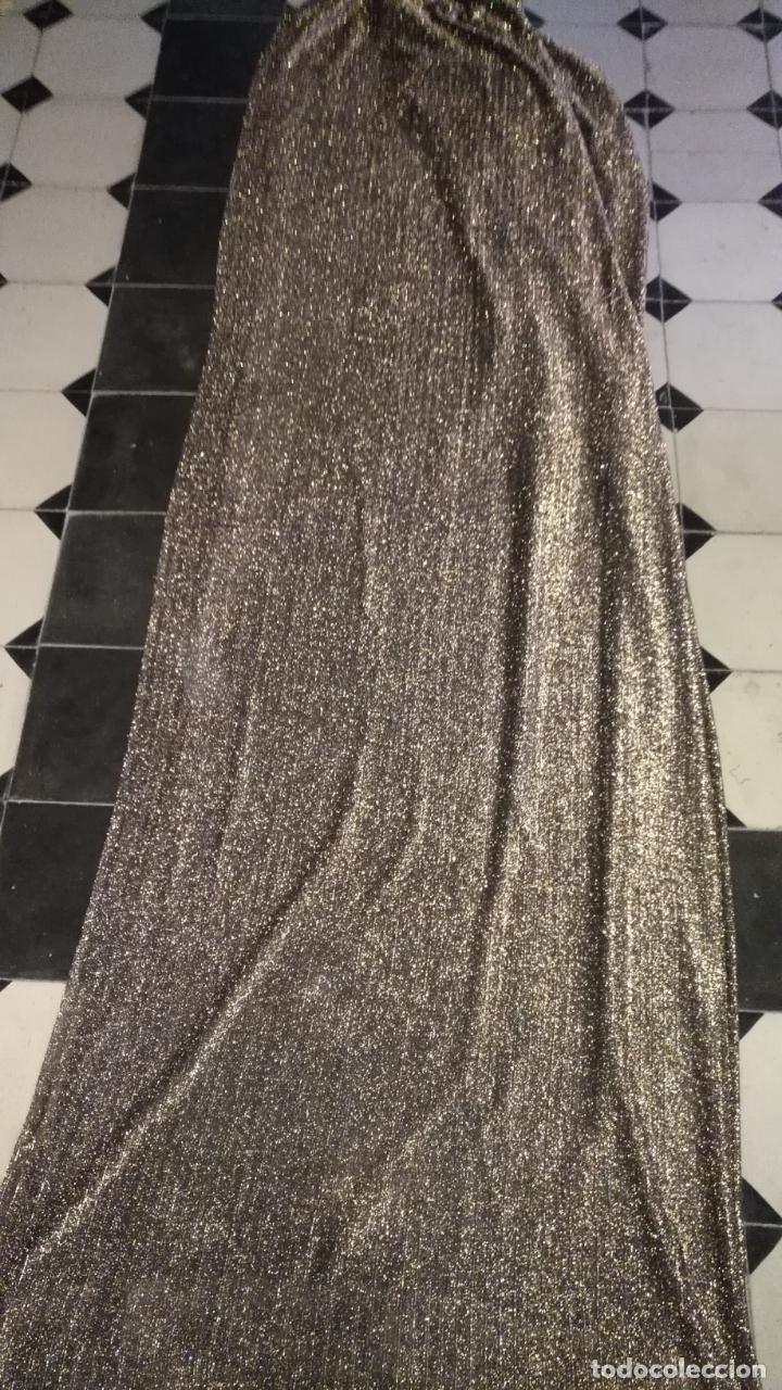 Antigüedades: tocado rostrillo pecho virgen de vestir tañaño natural difuntos festivo brillo dorado semana santa - Foto 4 - 146830326