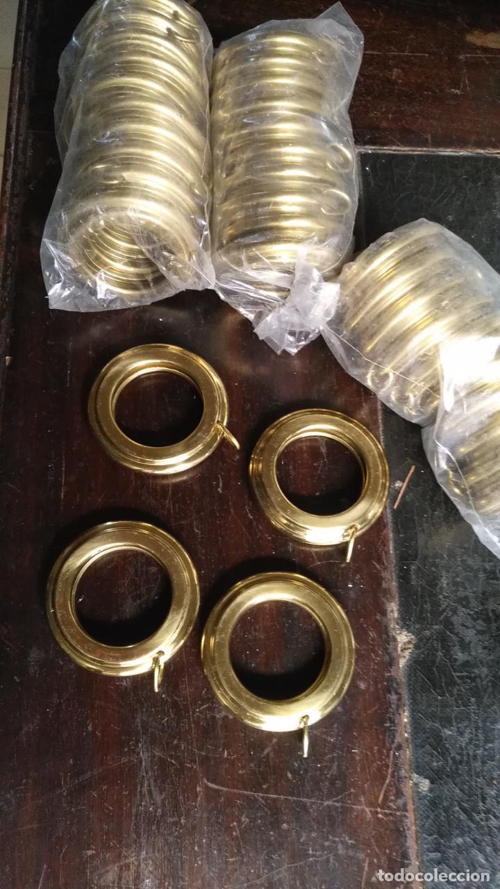 Antigüedades: 10 anillas de cortinas - nunca usadas, buen estado - metal cortinero DECORACION - DORADAS - ARGOLLAS - Foto 8 - 175563977