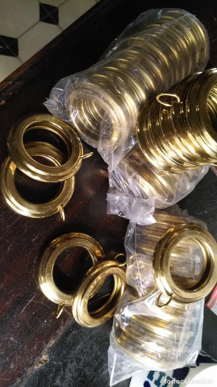 Antigüedades: 10 anillas de cortinas - nunca usadas, buen estado - metal cortinero DECORACION - DORADAS - ARGOLLAS - Foto 15 - 175563977