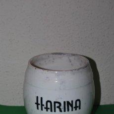 Antigüedades: BOTE DE CERÁMICA - HARINA - COCINA - LOZA - MANISES - AÑOS 30-40. Lote 154569745