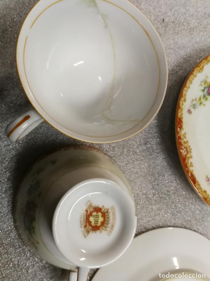 Antigüedades: ANTIGUA PAREJA DE TAZAS Y PLATOS DE TE DE PORCELANA TAJIMI JAPON, COMACHADO PAMAKA - Foto 2 - 146858906