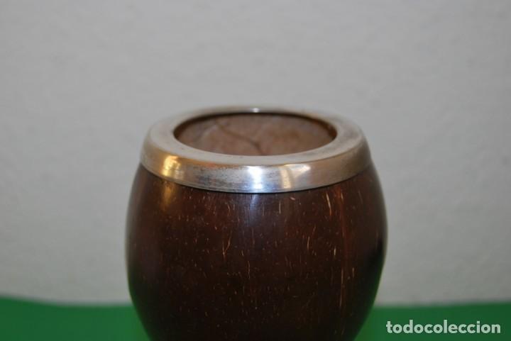 Antigüedades: PRECIOSA COPA DE PLATA Y COCO - SELLADA - INGLATERRA - FINALES SIGLO XIX - Foto 4 - 146863550