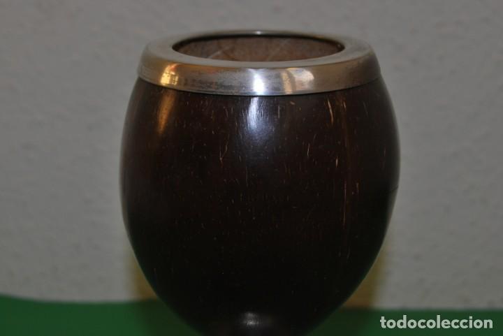 Antigüedades: PRECIOSA COPA DE PLATA Y COCO - SELLADA - INGLATERRA - FINALES SIGLO XIX - Foto 6 - 146863550