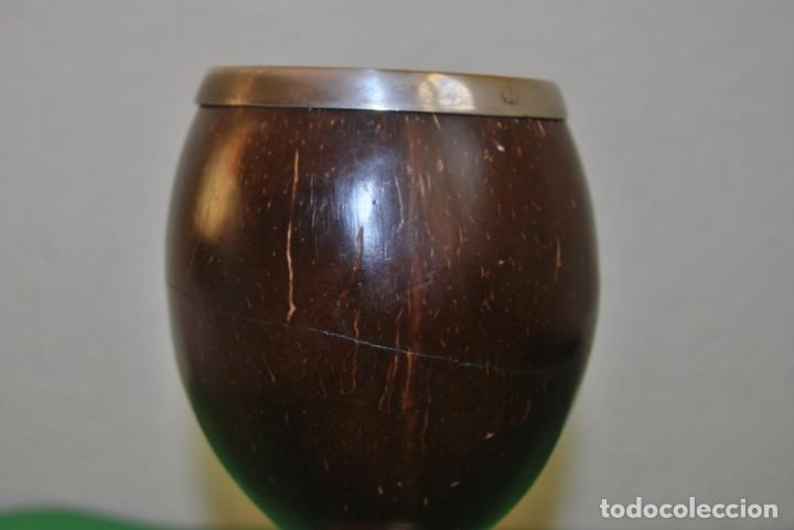 Antigüedades: PRECIOSA COPA DE PLATA Y COCO - SELLADA - INGLATERRA - FINALES SIGLO XIX - Foto 9 - 146863550