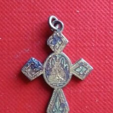 Antigüedades: MEDALLA CRUZ CRUCIFIJO RELIGIOSO ANTIGUO SIGLO XIX. Lote 146895262