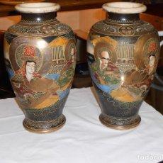 Antigüedades: PAREJA DE JARRONES SATSUMA. Lote 146900986
