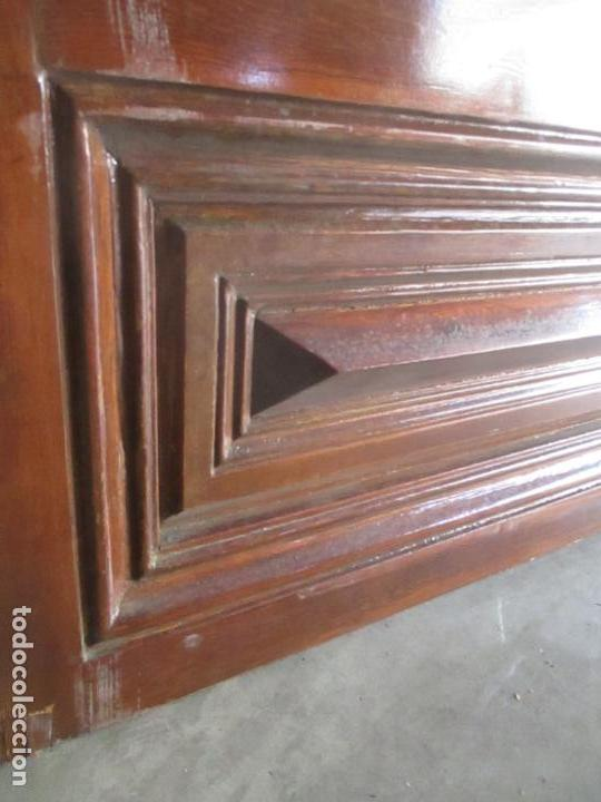 Antigüedades: Antigua Puerta, Portón - Madera de Pino - Cristal - Ancho 107 cm - Altura - 220,5 cm - S. XIX - Foto 3 - 146906730