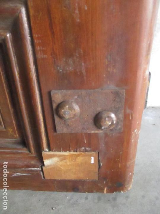 Antigüedades: Antigua Puerta, Portón - Madera de Pino - Cristal - Ancho 107 cm - Altura - 220,5 cm - S. XIX - Foto 8 - 146906730