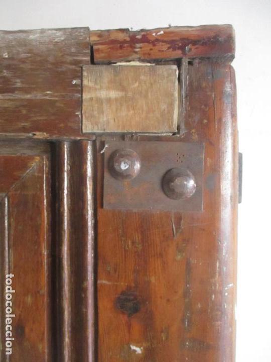 Antigüedades: Antigua Puerta, Portón - Madera de Pino - Cristal - Ancho 107 cm - Altura - 220,5 cm - S. XIX - Foto 9 - 146906730