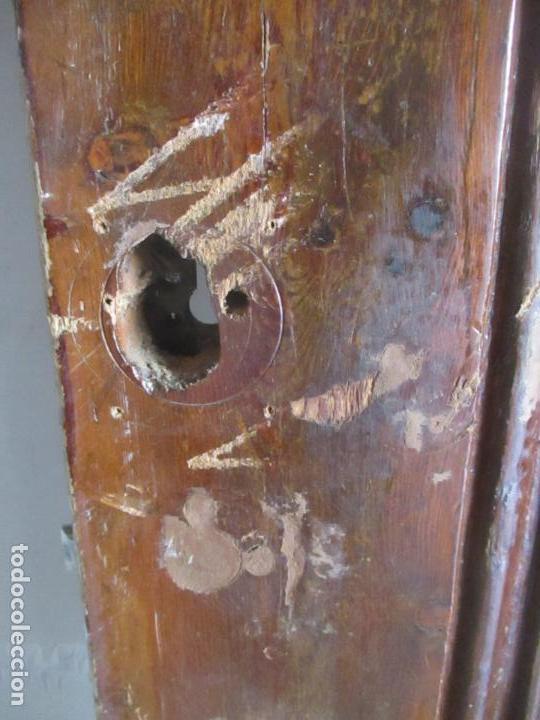 Antigüedades: Antigua Puerta, Portón - Madera de Pino - Cristal - Ancho 107 cm - Altura - 220,5 cm - S. XIX - Foto 15 - 146906730